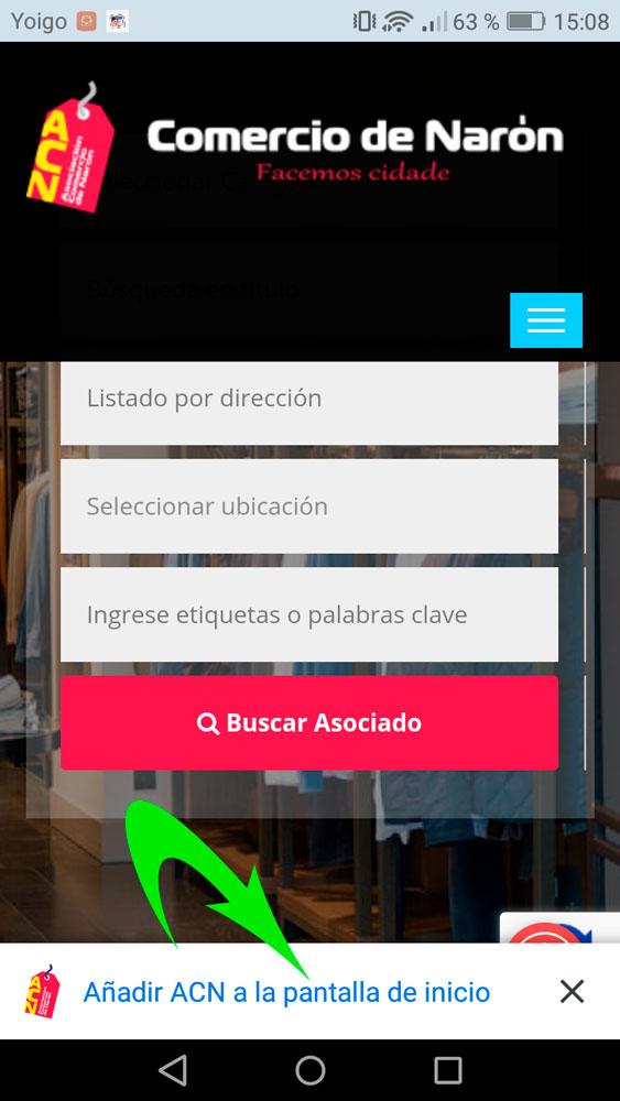 La web de ACN, en tu móvil